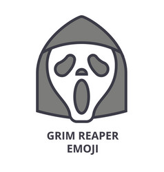 Grim reaper emoji line icon sign vector