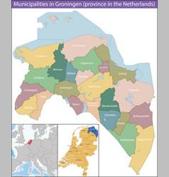 Groningen is a province netherlands vector