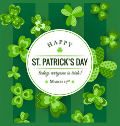 happy st patricks day invitation vector image