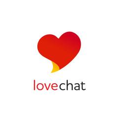 heart symbol speech bubble love chat bubble vector image