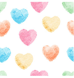 heart watercolor painting art and seamless vector image