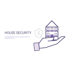 house security concept real estate protection vector image
