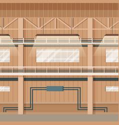 Industrial factory empty warehouse space interior vector