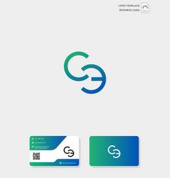 initial ce or ec creative logo template and vector image
