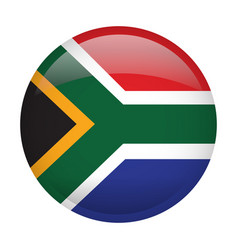isolated flag of south africa vector image