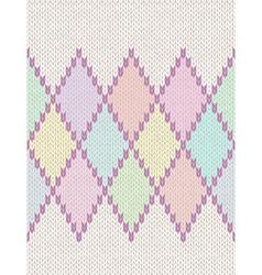 Knit woolen baornament texture vector