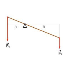 Lever principle scheme vector