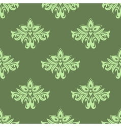 Light green floral seamless pattern vector image
