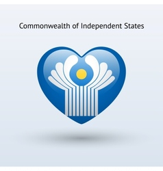 Love commonwealth independent states symbol vector