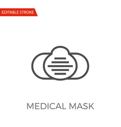 medical mask icon vector image