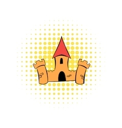 Medieval castle fortress comics icon vector