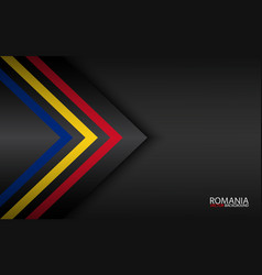 Modern colorful arrows with romanian colors and vector