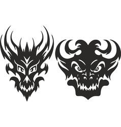 monster heads symmetric vector image