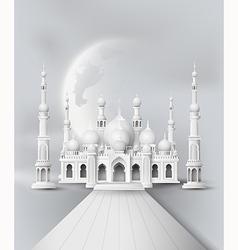 Mosque with half moon vector