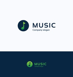 Music note play logo vector