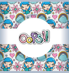 Oops pattern background vector