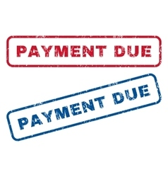 Payment Due Rubber Stamps vector