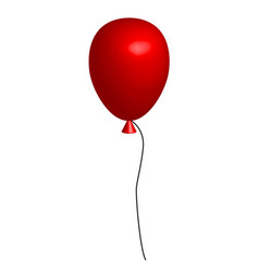 realistic red balloon on white background 3d red vector image