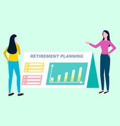 Retirement planning investment broker plan pension vector