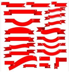 Ribbon red vector
