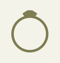 ring icon on white background vector image