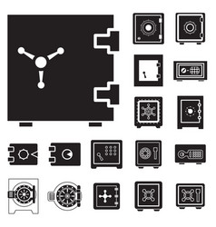 Safe icon isolated or security and protection sign vector