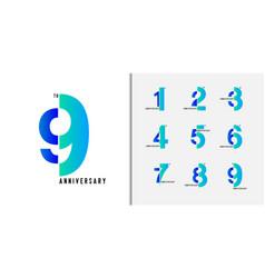Set anniversary logotype vector