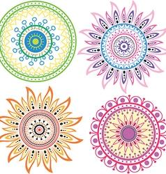 Set of color mandala vector image