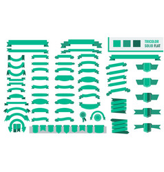 set of tricolor flat long and short vector image