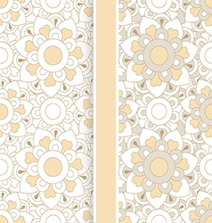 Set of two pastel floral seamless patterns vector