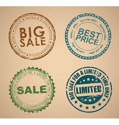 set old round stamps for sale vector image
