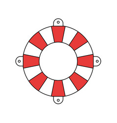Silhouette color section of flotation hoop vector