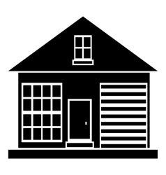 Small rural house icon simple style vector image