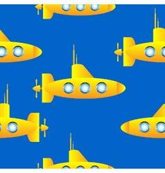 Submarine seamless pattern vector image