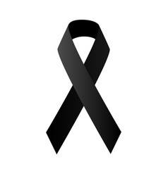 symbolic black ribbon vector image