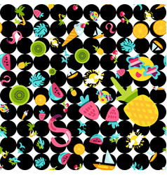 Tropical summer seamless pattern vector