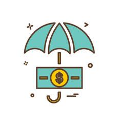 umbrella icon design vector image