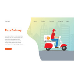 website template design for pizza restaurant vector image