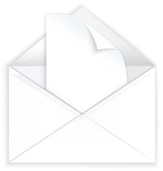 White envelope and corner paper vector