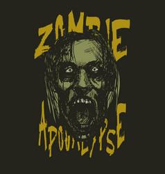 zombie apocalypse zombie head vector image