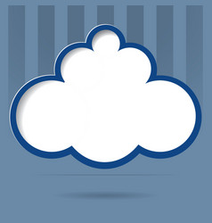 cloud for your text vector image vector image