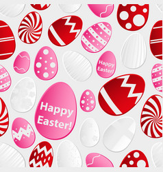 Easter eggs design from color paper pattern vector