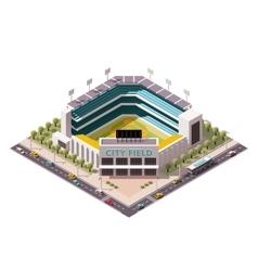 isometric baseball arena vector image vector image
