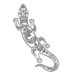 Lizard with decorative patterns vector image