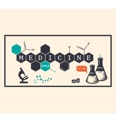 Medicine background medicine inscription vector image vector image