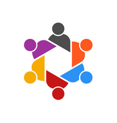 people table meeting group logo vector image