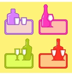restaurant background with alcohol beverage vector image