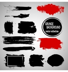 Set of hand drawn brushes and design elements vector image