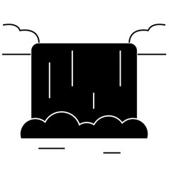 waterfall icon sign o vector image