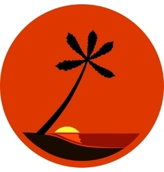 A Tropical Sunset vector image